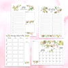 Digital Download Watercolor Floral Monthly Planning Bundle