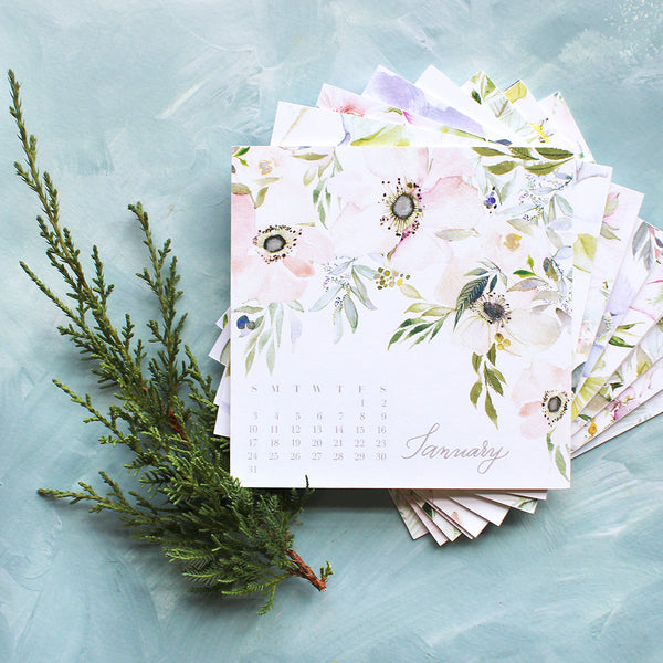 Watercolor Floral 2021 Calendar