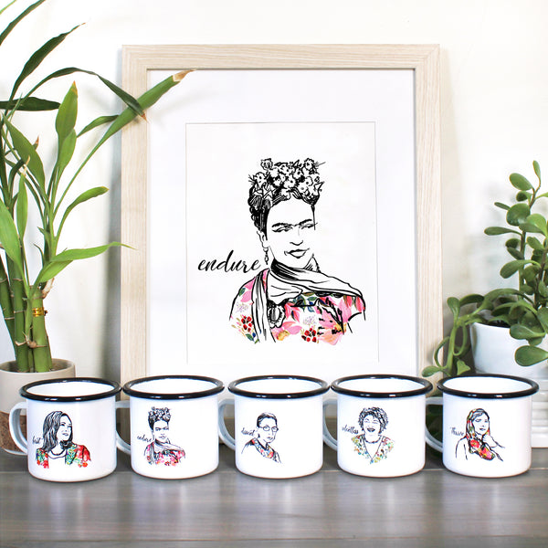 Pillars Collection - Frida Kahlo Watercolor Art Print