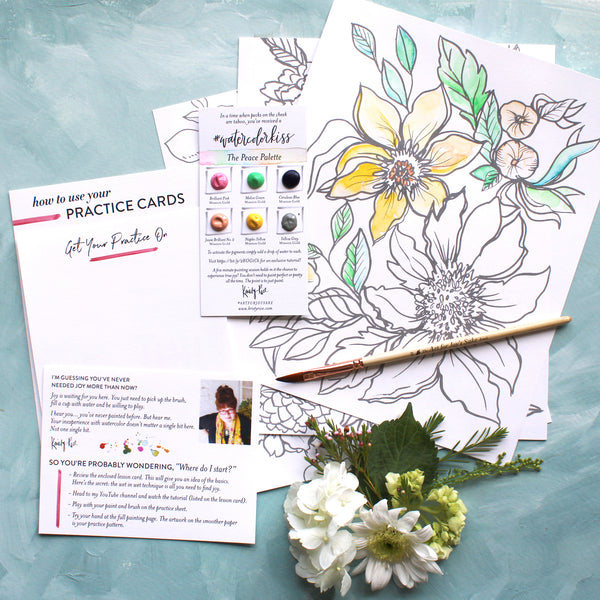 Garden Watercoloring Pages Bundle