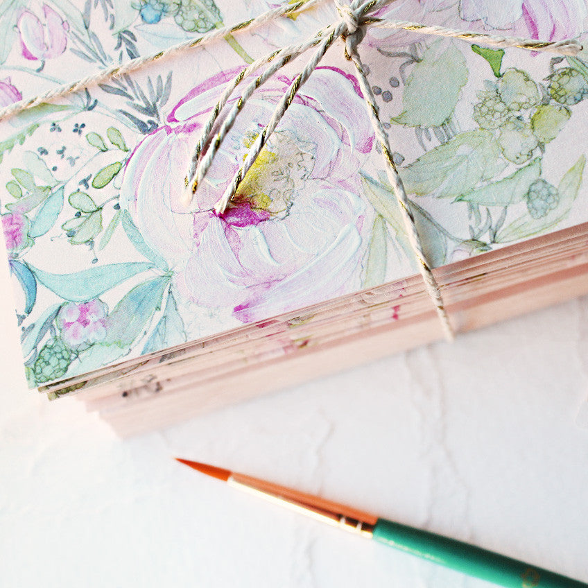 hand-painted-peach-peony-notecards