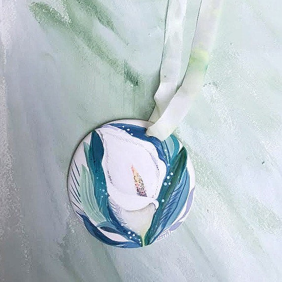 Hand Painted Ornaments - Calla Lily