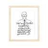 Pillars Collection - Joe Biden on Eagle's Wings Watercolor Art Print