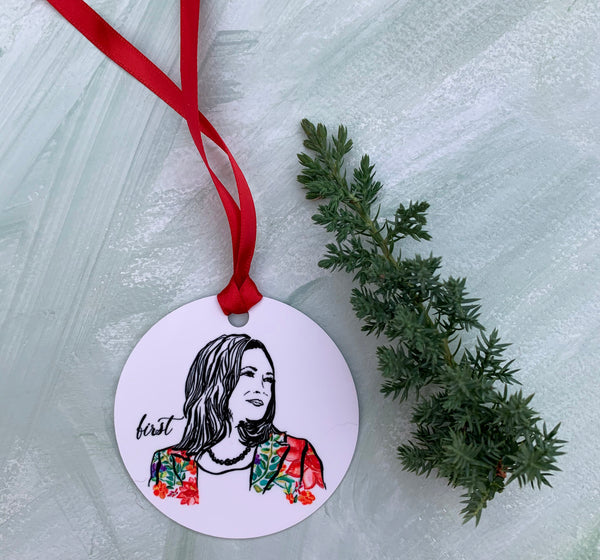 Pillars Collection - Kamala Harris Watercolor Christmas Ornament