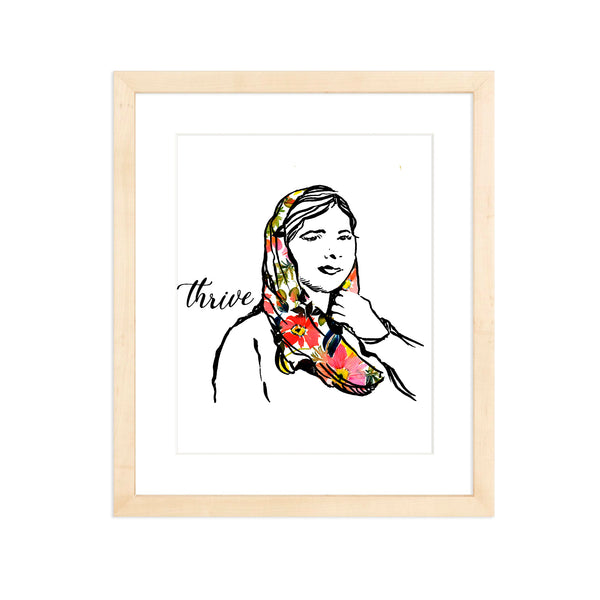 Pillars Collection - Malala Yousafzai Watercolor Art Print