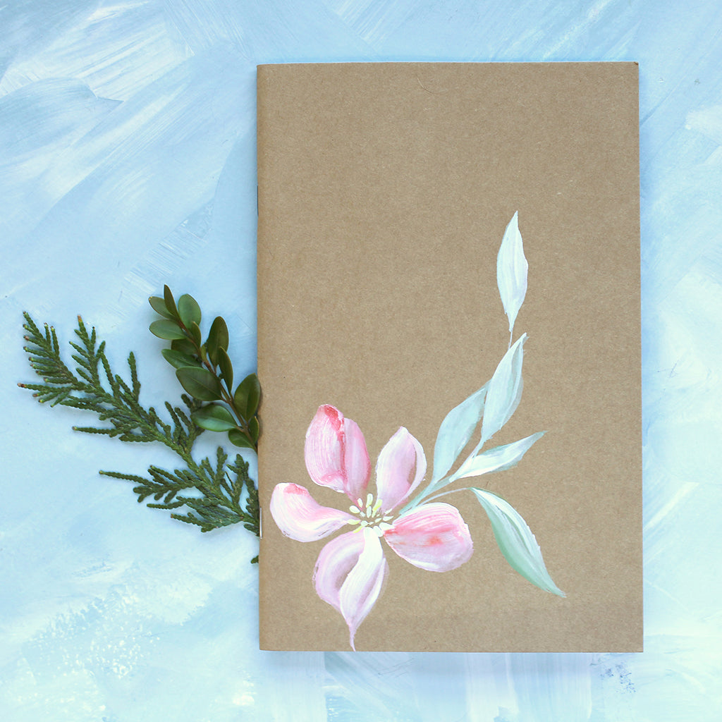 Painted Notebook - Pink Bloom