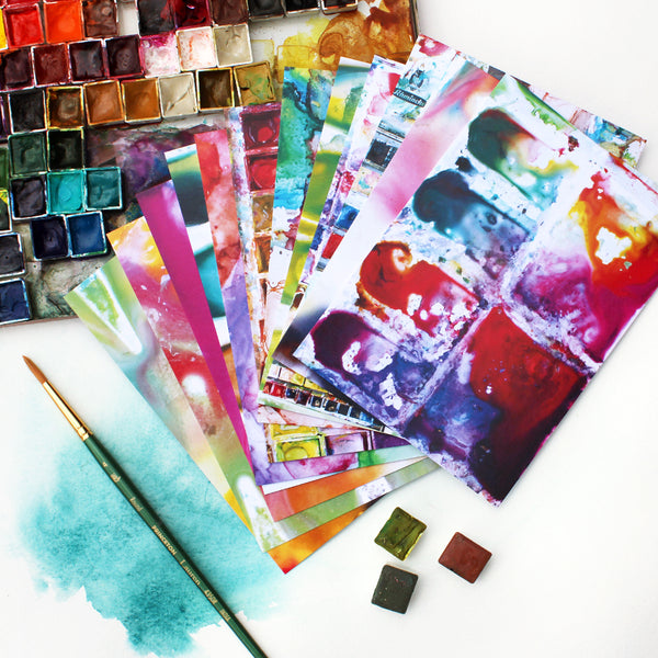Watercolor Palette Notecard Set
