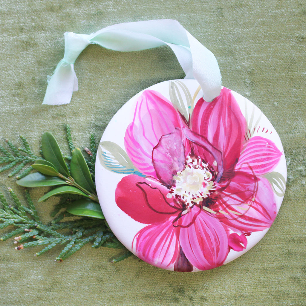 Hand Painted Ornaments - Red Amaryllis