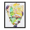 National Parks and Recreation - Watercolor Fragments Art Print
