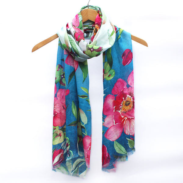 Watercolor Scarf - Peony