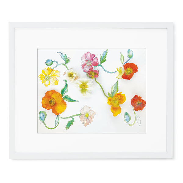 My Precious...Poppies - Watercolor Fragments Art Print
