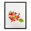 Lady in Red Dahlia - Watercolor Fragments Art Print