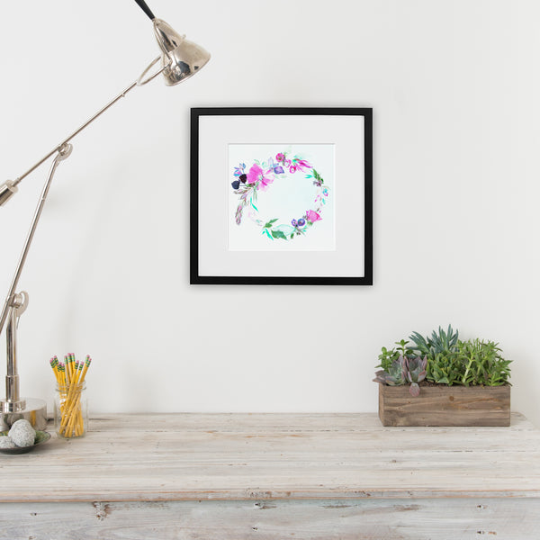 My My Rose of Sharon - Watercolor Fragments Art Print