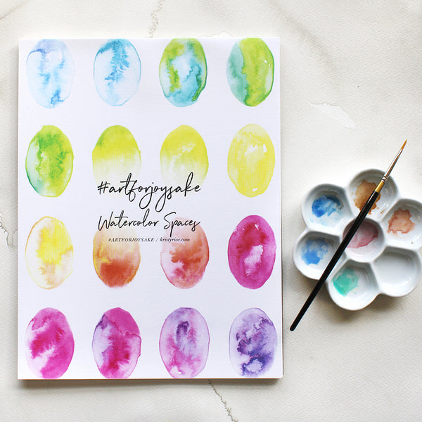 Ovals Watercolor Spaces - Watercolor Notebook