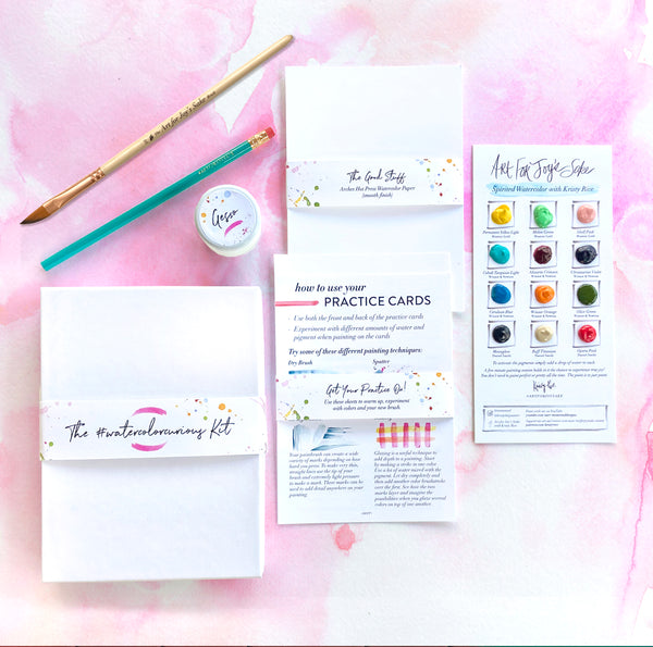 Special Edition #watercolorcurious Kit for Spirited Watercolor with Kristy Rice