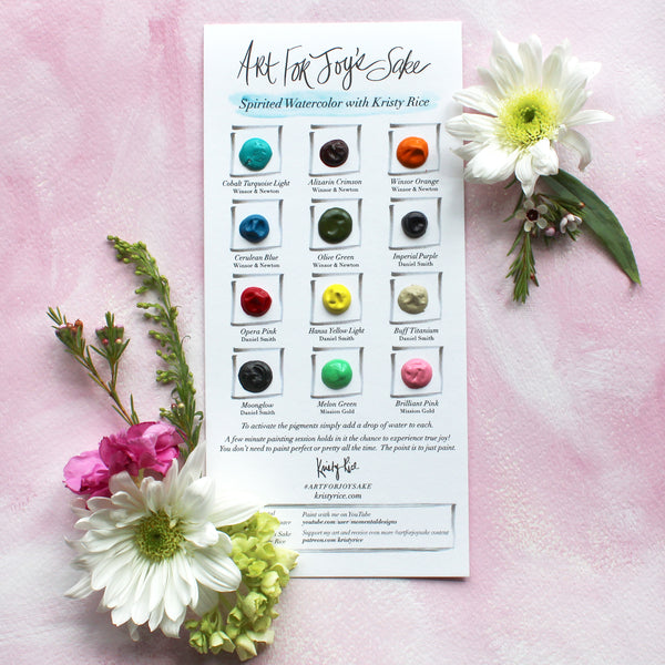 Art For Joy's Sake Spirited Watercolor Palette