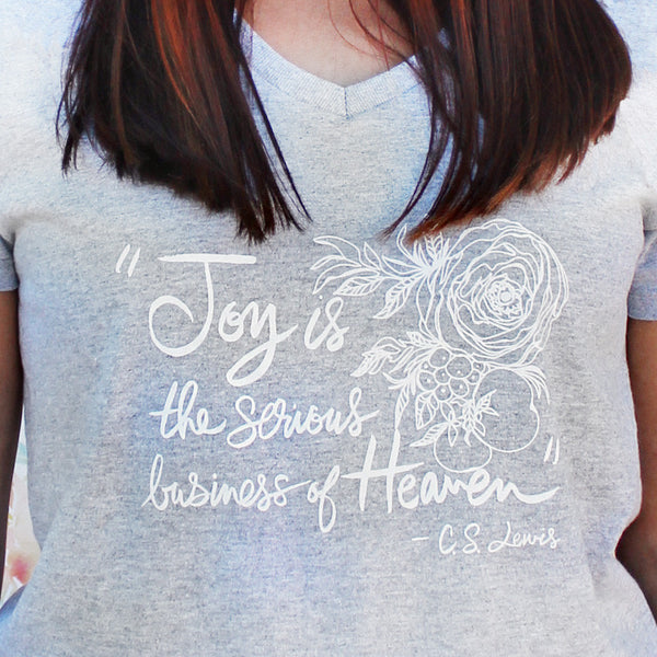 Joy is the serious business of Heaven, C.S. Lewis Quote T-Shirt