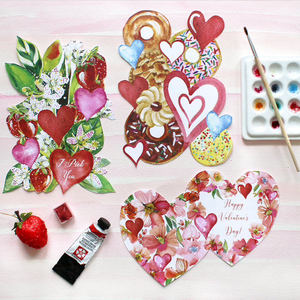 #watercolorhug Valentine - Self Mail Option