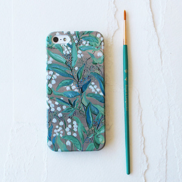 Lily of the Valley Watercolor Cell Phone Case