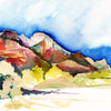 Let Your Zion Wander II - Watercolor Fragments Art Print