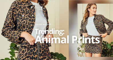 Animal prints are a wardrobe staple this coming season . . . .