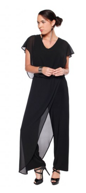 Last Tango Beautiful Chiffon Overlay Jumpsuit