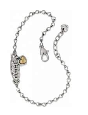BRIGHTON ART & SOUL COURAGE/LIFE ANKLET
