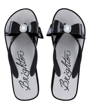 Brighton Bowie Black Wedge Flip Flop