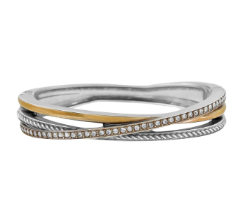 Brighton Neptune's Rings Narrow Hinged Bangle