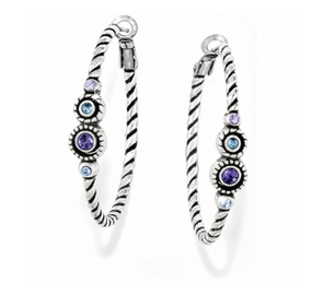 Brighton Halo Hoop Earrings In Lavender & Aqua