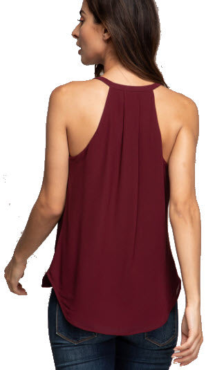 THE PERFECT TOP FOR THE HOLIDAY......CLASSIC STYLE HI-LO OVERLAPPED TANK TOP