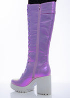 Lilac Fairy Lace-up High Boot