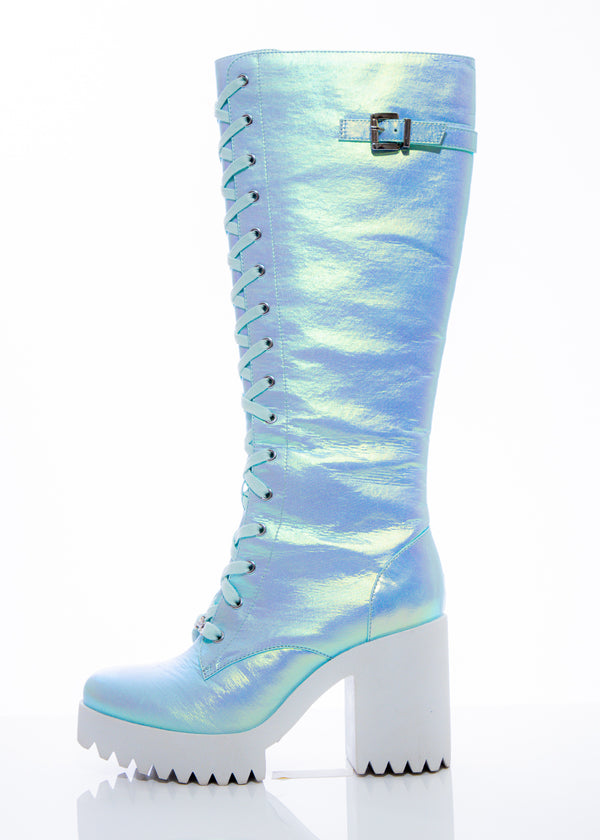 Light Blue Fairy Lace-up High Boot
