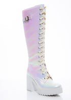 White Fairy Lace-up High Boot
