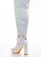 White Fairy Star High Boot
