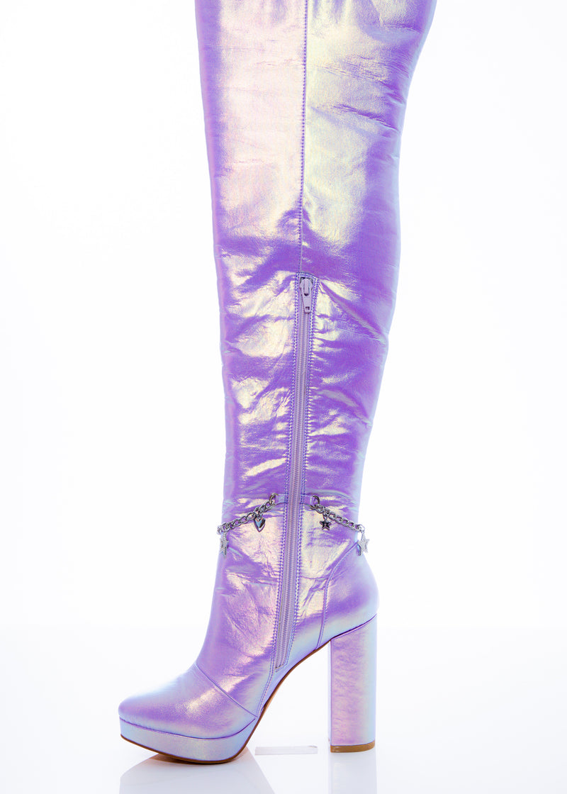 Lilac Fairy Star High Boot