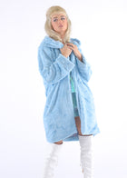 Light Blue Gangsta Fur Coat