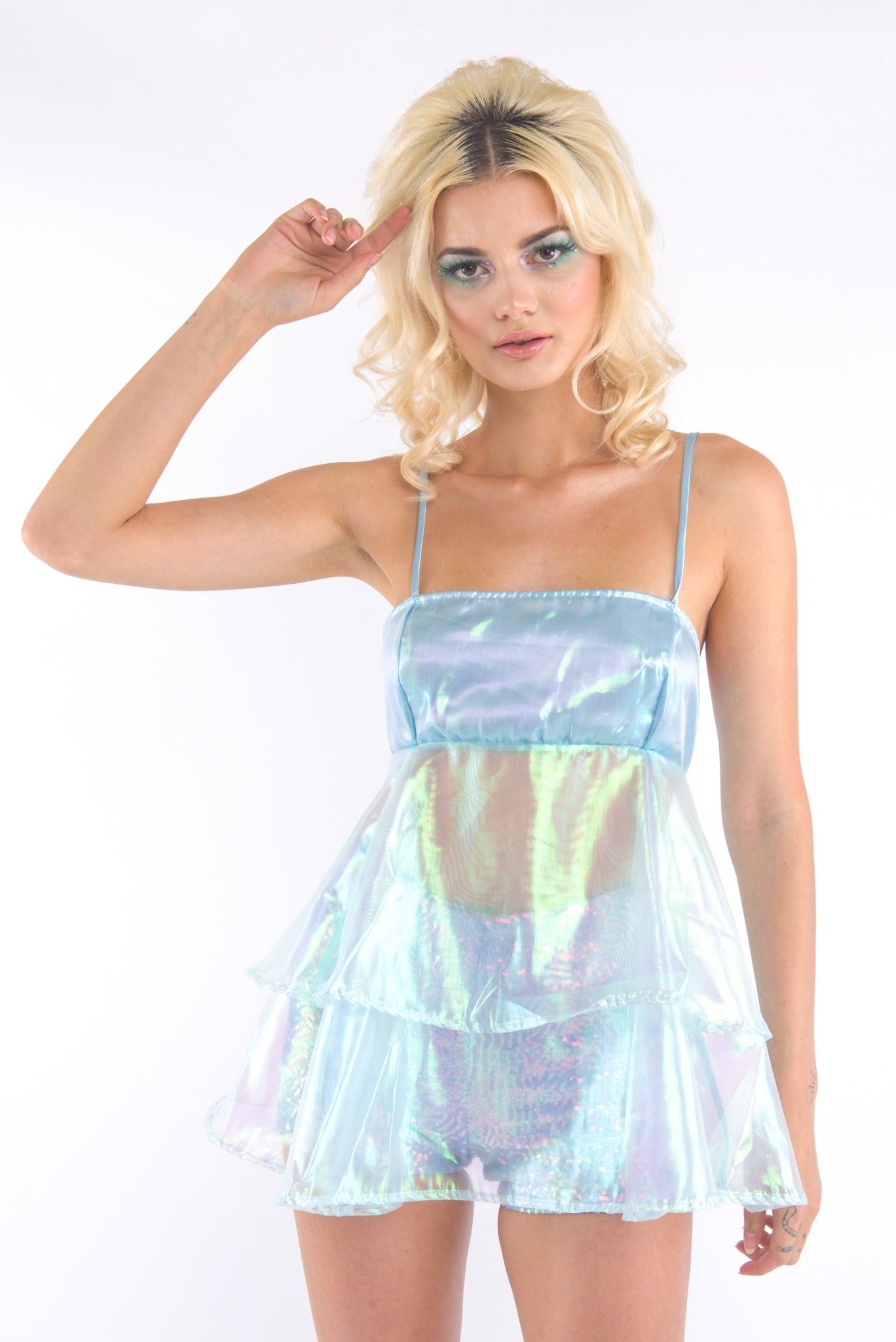 Light Blue Iridescent Cupcake Dress