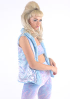 Light Blue Fur Vest