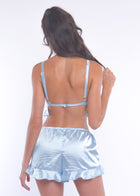 Blue Silky Cutie Pie Shorts