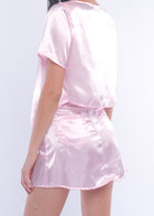 Pink Silky Good Girl Top