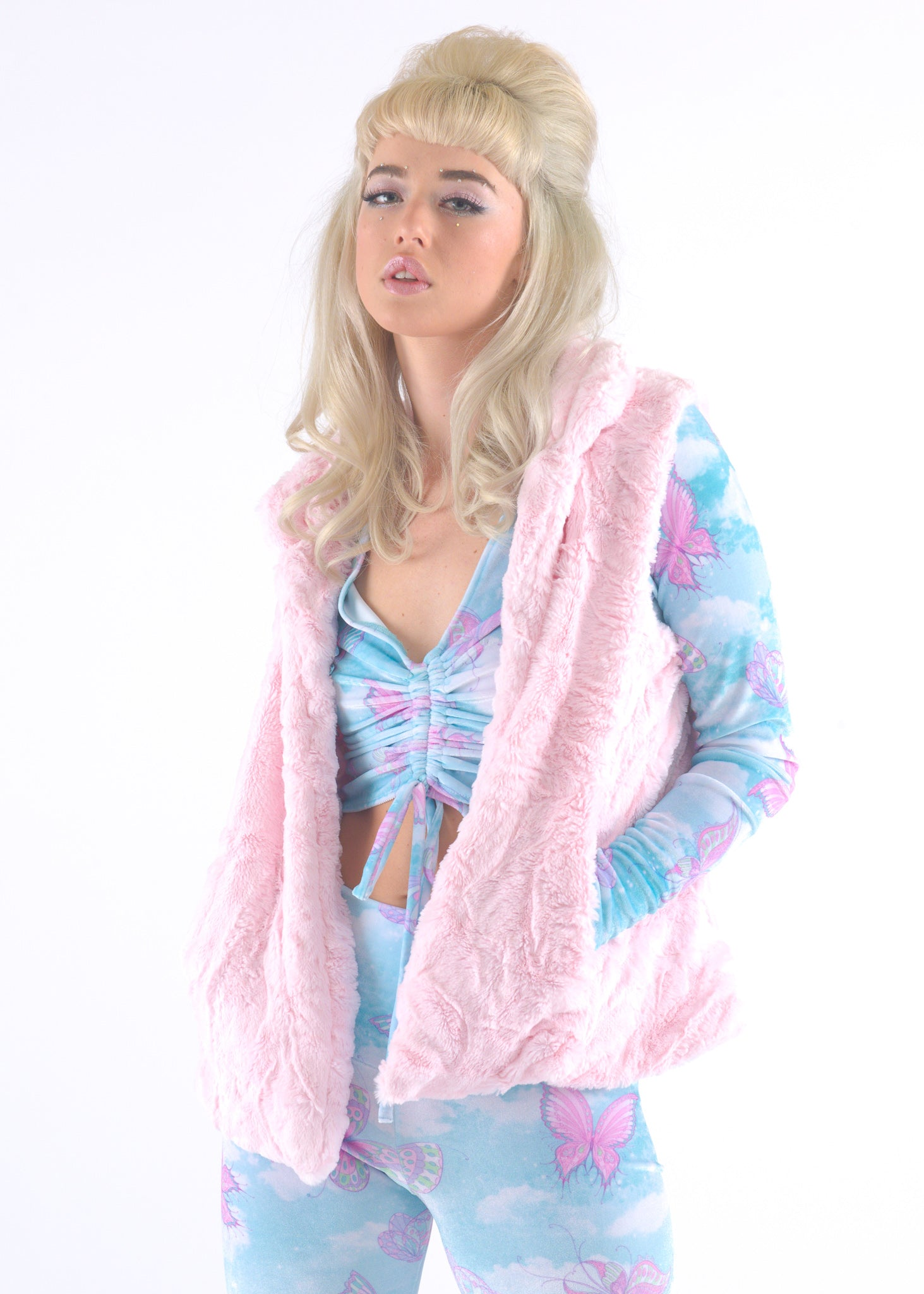 Light Pink Fur Vest