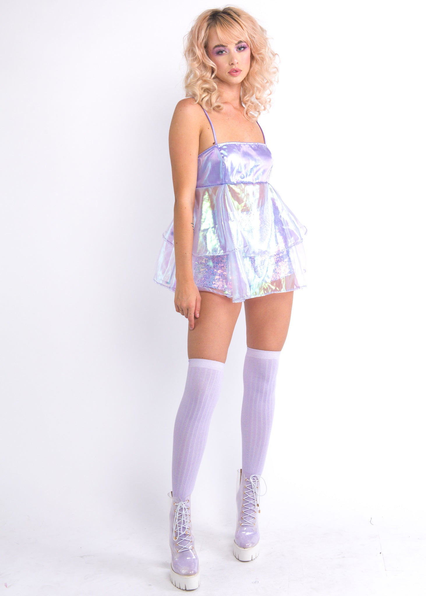 Lilac Iridescent Cupcake Dress