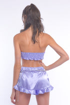 Lilac Embellished Bandeau Top