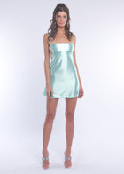 Mint Silky Mini Dress