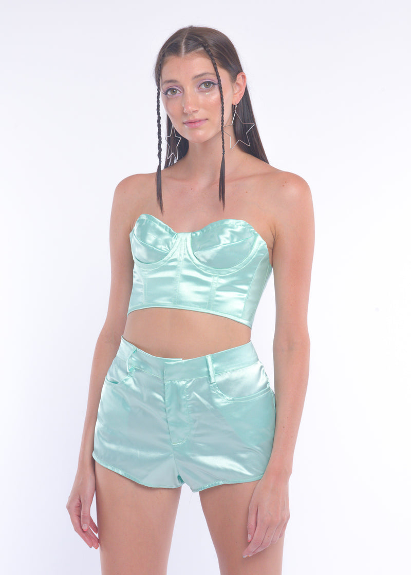 Mint Silky Fairy Shorts