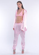 Pink Silky Sweat Pant