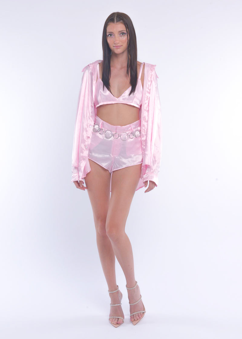 Pink Silky Fairy Shorts