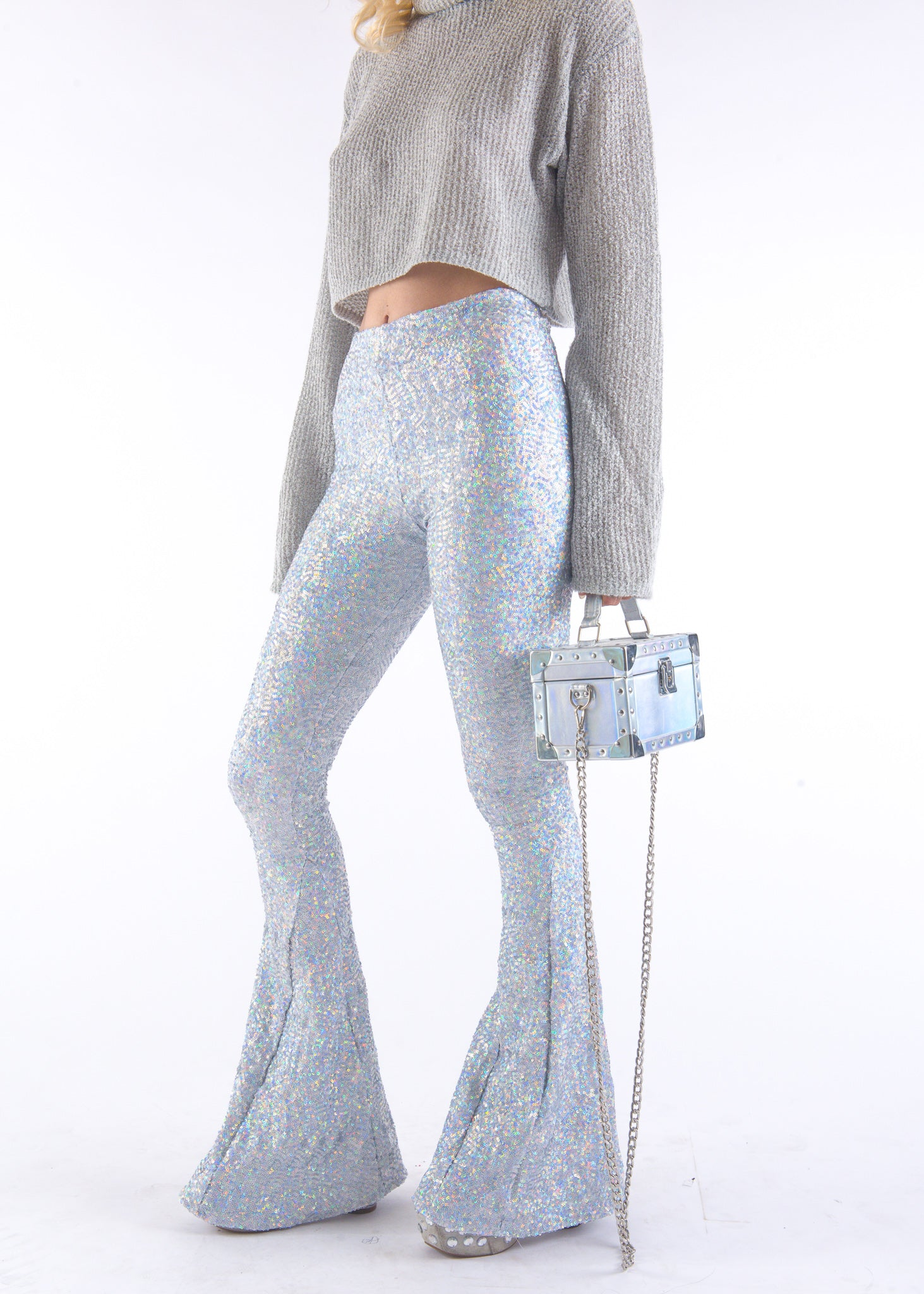 Silver Hologram Sequin Bells