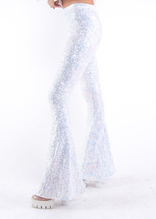 White Iridescent Sequin Bells
